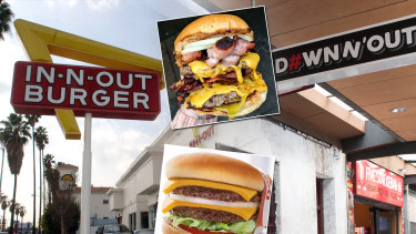 In-N-Out Burger claims the owners of Sydney's Down N' Out restaurants are infringing their trademarks.
