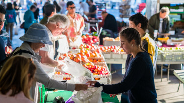 At farmers markets, you're more likely to find local and seasonal varieties of food.