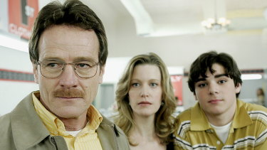 Bryan Cranston, Anna Gunn and RJ Mitte in Breaking Bad.