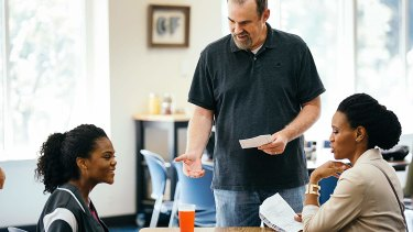 Aryn Wright-Thompson, Alex Kendrick and Priscilla C. Shirer in Overcomer.