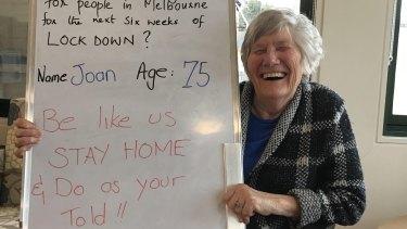 Joan's advice to get through lockdown.