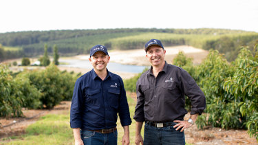 Alterra's Oli Barnes and Andrew McBain at the new farm site.