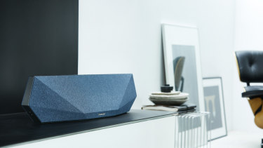 Big and colourful, the Music-7 stands out more than a soundbar usually should.