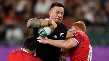 Going down: The announcement of Sonny Bill Williams' deal with the Toronto Wolfpack caused the clubs's website to crash.