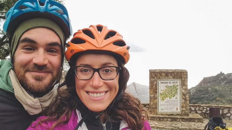 The couple posted photos and wrote about their journey.