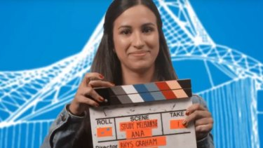 Ana Sanchez, from Cali, Colombia, features in a video that is part of a Trade Victoria campaign trying to lure more Latin American students to the state.