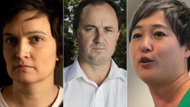 EllaBuckland, Jeremy Buckingham and Jenny Leong.