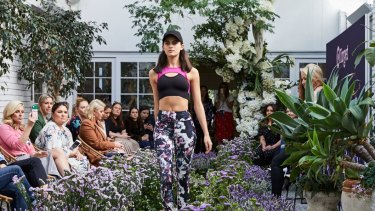 Models show the new active wear and fashion ranges by Target, which has been undergoing a turnaround of its fashion business over the past 18 months.