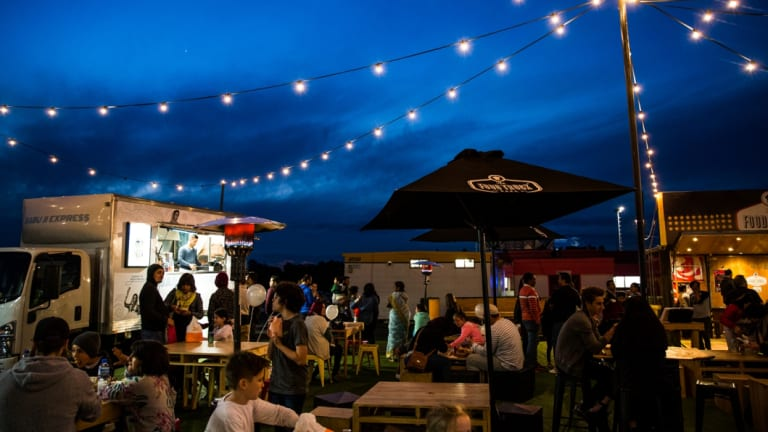 The drive-has hosted food truck festivals in recent years.