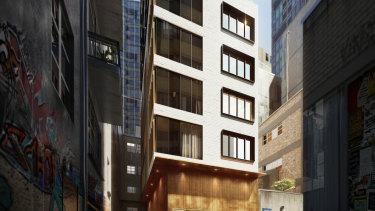 A 44-room hotel is proposed in Bennetts Lane, Melbourne – close to the former Bennetts Lane Jazz Club site.