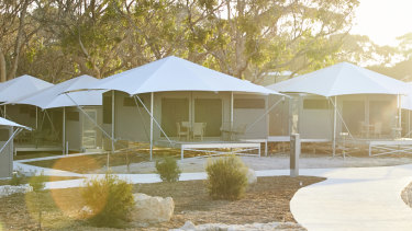 The 83 tents are available at four price points and are versatile and practical inside.