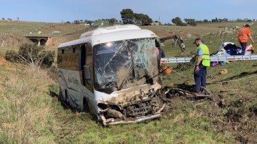 The bus crash left 28 people injured.