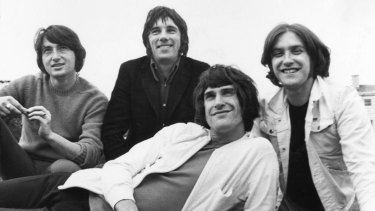 The Kinks' Peter Quaife (left), Mick Avory, Ray Davies (front) and Dave Davies.