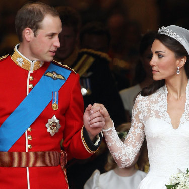 The Duke and Duchess of Cambridge on their wedding day, April 29, 2011.