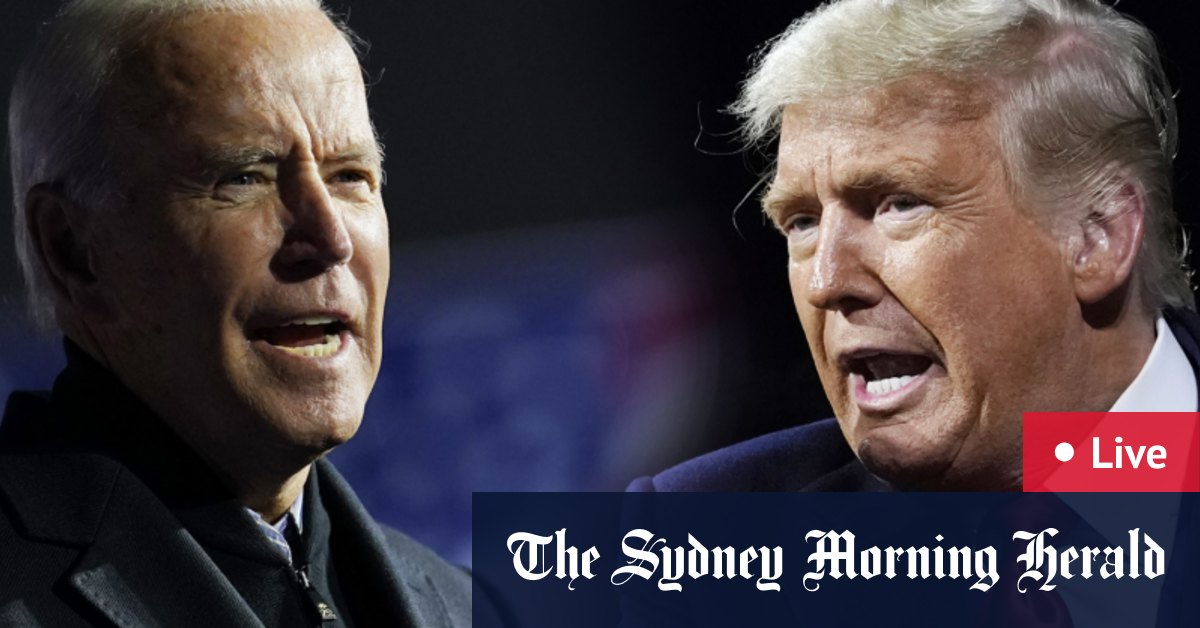 US election LIVE updates: Joe Biden maintains lead over Donald Trump as Arizona Michigan vote-counting centres swamped by US President's supporters – The Sydney Morning Herald