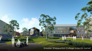 An artist's impression of Greater Shepparton College.