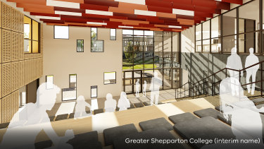 An artist's impression of Shepparton's new super school.