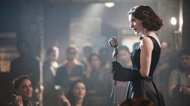 Rachel Brosnahan as Midge Maisel in <i>The Marvelous Mrs Maisel</I>.