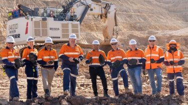 One of the celebratory images posted by the mining company on Thursday.