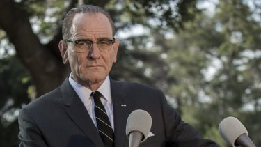Bryan Cranston as US president Lyndon B. Johnson in the film based on his stage production, All The Way.