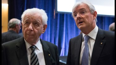 Selling out: Frank Lowy and son Steven Lowy have sold their remaining shares in Sydney FC.