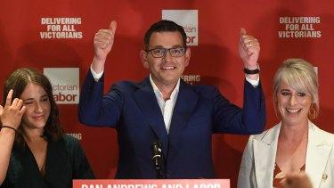 "Premier Daniel Andrews (centre) says Victoria is the most ""progressive state""."