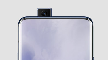 The front camera pops up whenever you need it.