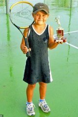 Ash Barty excelled at tennis from a young age.