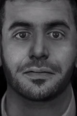 An artist's impression of the man's face based on the forensic reconstruction of the skull.