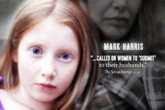 "A still from the Democrat ""attack"" ad on Mark Harris."