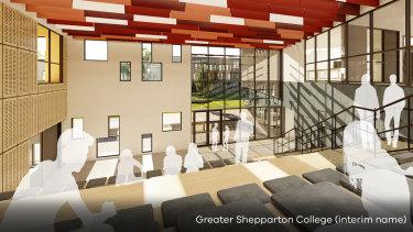 An artist's impression of Shepparton's new super school.