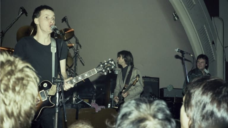 Andy Partridge and Colin Moulding and XTC at Cloudland Ballroom in 1979 before it was demolished.