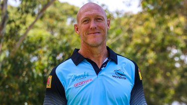 New Sharks coach Craig Fitzgibbon on his first day at the club.