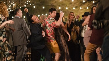 Every day is a party for Andy Samberg in Palm Springs.
