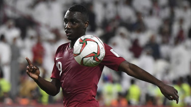 Top scorer: Qatar's Almoez Ali has scored eight goals at the 2019 Asian Cup.