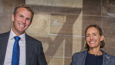 NSW Minister for Planning Rob Stokes with Government Architect Abbie Galvin at the Australian Museum.