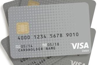A sample cashless welfare debit card.