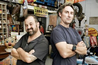 "Frank Fritz (left) and Mike Wolfe are the stars of the US reality show ""American Pickers"", now in its 21st season."