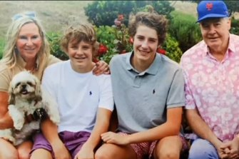 Family man: Skye, Ben, Harry and David Leckie.