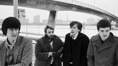 Joy Division, from left, Stephen Morris, Peter Hook, Bernard Sumner, and Ian Curtis, were ''magical, as haunted and unknowable as the most perfect magic''.