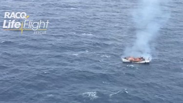 The burning charter boat eventually sank, according to police.