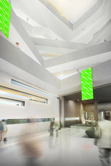 The interior as per the concept plan.