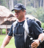 Tommy Raudonikis walking the Kokoda Track in 2012.