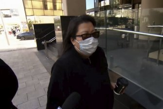 Thi-My-An Pham leaving Perth Magistrate's Court on Friday.
