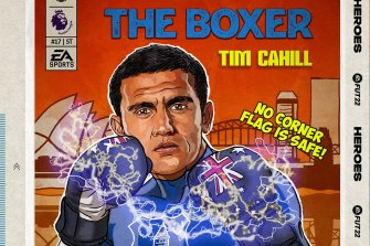 Socceroos and Everton great Tim Cahill returns to the FIFA 22 video game this year.