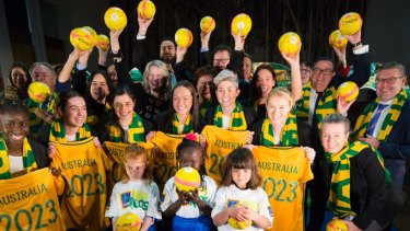 Big plans: Australia launched its bid for the 2023 Women's World Cup two years ago.