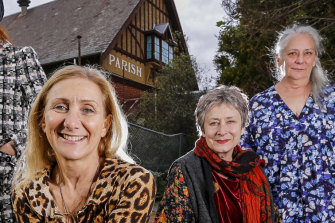 L-R: Musical director Nela Trifkovik, director Deborah Leiser-Moore, writer/performer Karen Corbett and writer/performer Maurya Bourandanis.