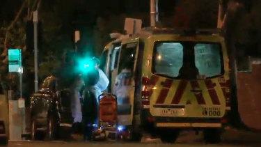 Paramedics at the scene in Richmond overnight.