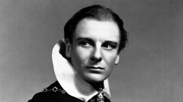"A young John Gielgud. ""These were people I'd seen on a screen growing up as a teenager in Dublin,"" Byrne said."