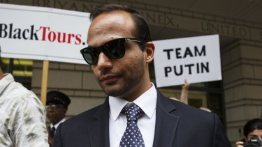 George Papadopoulos, former campaign adviser for US President Donald Trump.